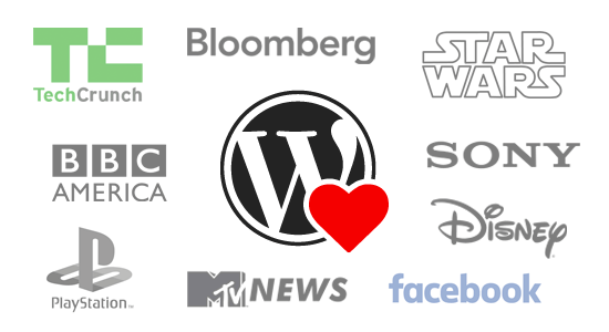 Various big name brands such as Disney who use WordPress